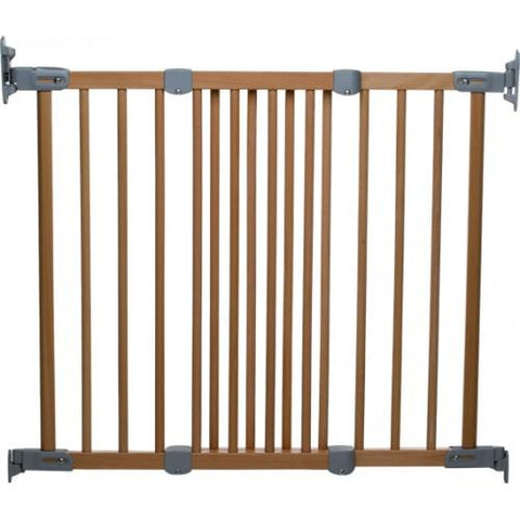 Flexifit Premium Extending Metal Gate - Beechwood by Baby Dan - Hushabyebaby.co.uk