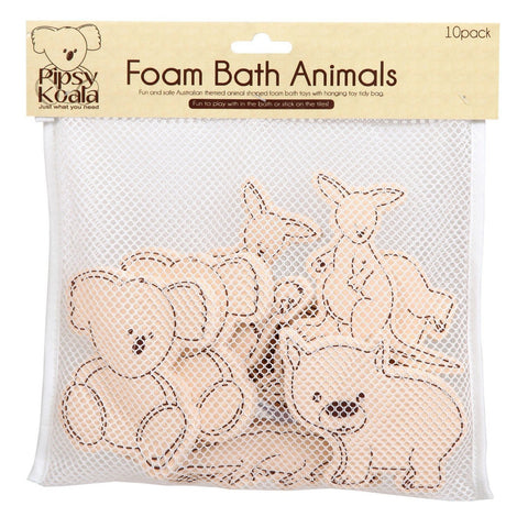 Pipsy Koala Foam Bath Animals In Bath Toy Tidy Bag - hushabyebaby-co-uk