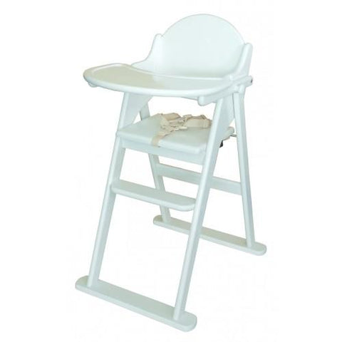 East Coast Nursery Highchair Wooden Folding White - Hushabyebaby.co.uk