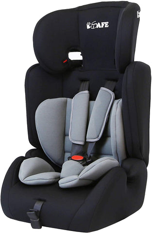 iSafe Value Comfort Baby Car Seat Group 123 Junior Trio Booster Seat - Grey - Hushabyebaby.co.uk