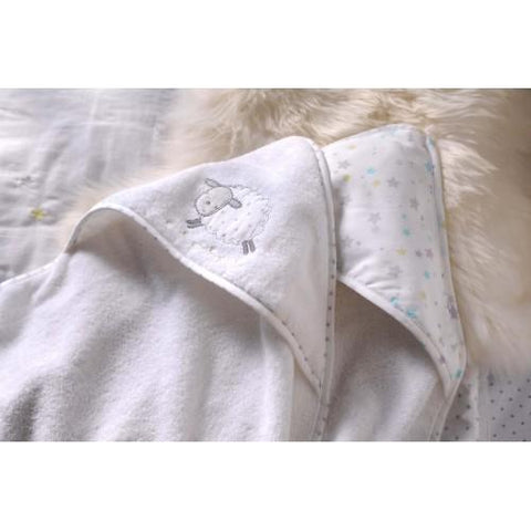 Hooded Cuddle Robes - 2 pack (1 x applique and 1 printed hood) by Silver Cloud - Hushabyebaby.co.uk