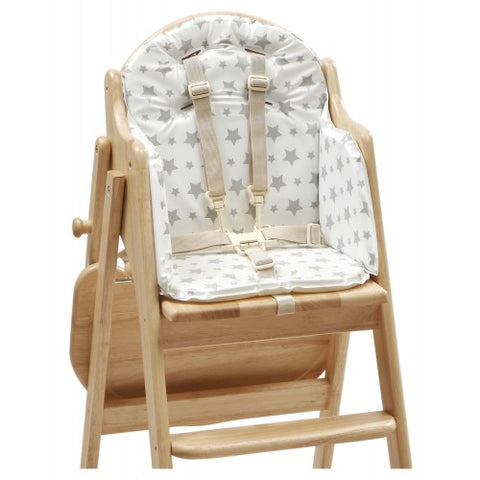 EAST COAST NURSERY HIGHCHAIR INSERT GREY STAR - Hushabyebaby.co.uk