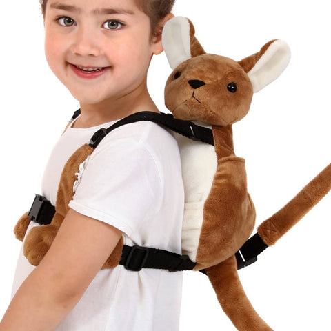 Kenny the Kangaroo Backpack harness - hushabyebaby-co-uk