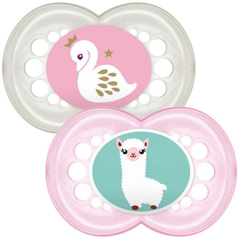 MAM Original Soother 12 month GIRL x 2 pack - Hushabyebaby.co.uk
