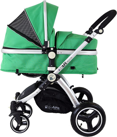 2 in 1 iSafe Pram System - Leaf - Hushabyebaby.co.uk