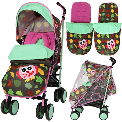 iSafe Stroller - Complete (Owl & Leaf) - Hushabyebaby.co.uk