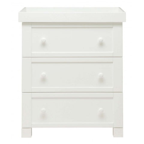 East Coast Nursery Dresser Montreal - White - hushabyebaby-co-uk