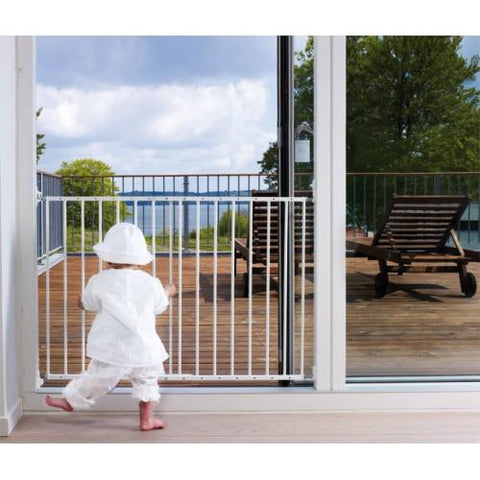Multidan Metal Extending Gate - White by Baby Dan - hushabyebaby-co-uk.myshopify.com