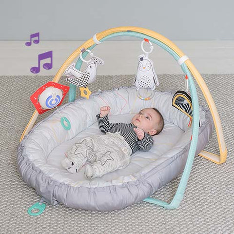 Musical Newborn Nest and Gym by Taf Toys - hushabyebaby-co-uk