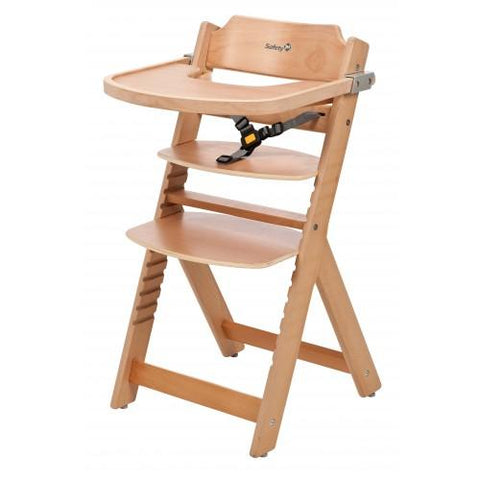 Safety 1st Timba Wooden Highchair - Natural - Hushabyebaby.co.uk