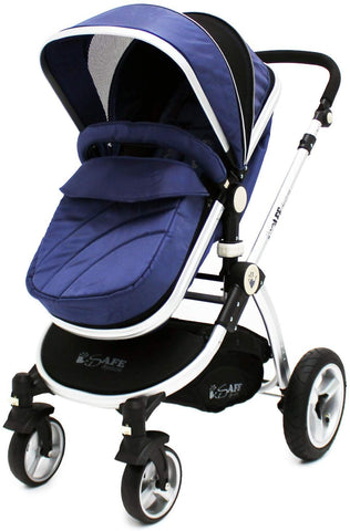 2 in 1 iSafe Pram System - Navy - Hushabyebaby.co.uk
