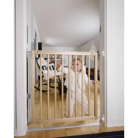 No Trip Metal Gate - Beechwood by Baby Dan - hushabyebaby-co-uk.myshopify.com