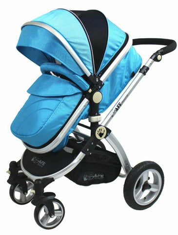 2 in 1 iSafe Pram System - Ocean - Hushabyebaby.co.uk