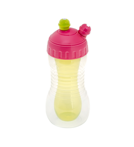2 Drinks Cooler Sports Bottle - Pink/Green - Hushabyebaby.co.uk