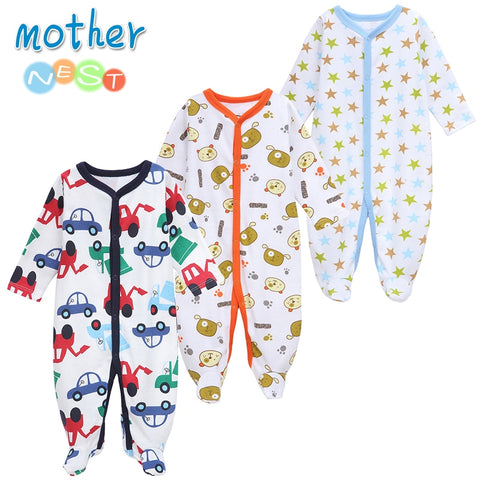 Newborn 3 Piece  Winter Baby Boy's and Girl's Rompers (0-12 months) - Hushabyebaby.co.uk
