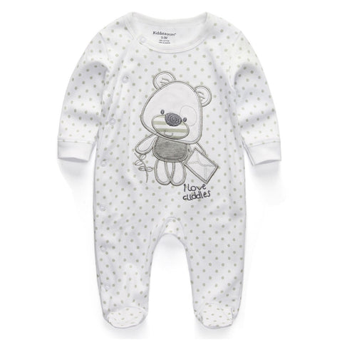Newborn Baby Boy/Girl Romper With Long Sleeves (Age 3 - 24 months) - hushabyebaby-co-uk