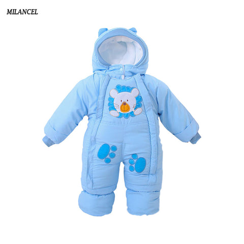 Autumn and Winter One Piece Baby Fleece Snowsuit/Romper with Hood - hushabyebaby-co-uk