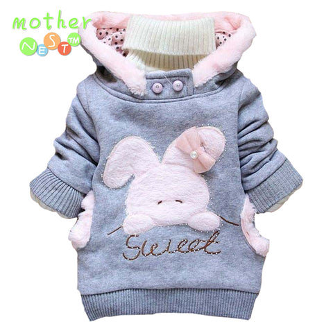 Girl's  Cartoon Rabbit Fleece Hooded Jacket (2 - 6 years) - Hushabyebaby.co.uk