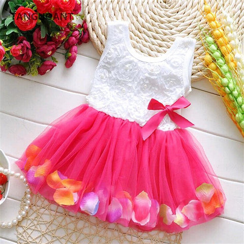 Baby Girl's Beautiful Sleeveless Flower Dress (0-3 years) - Hushabyebaby.co.uk