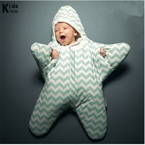 Baby Sleeping Bag Starfish - hushabyebaby-co-uk