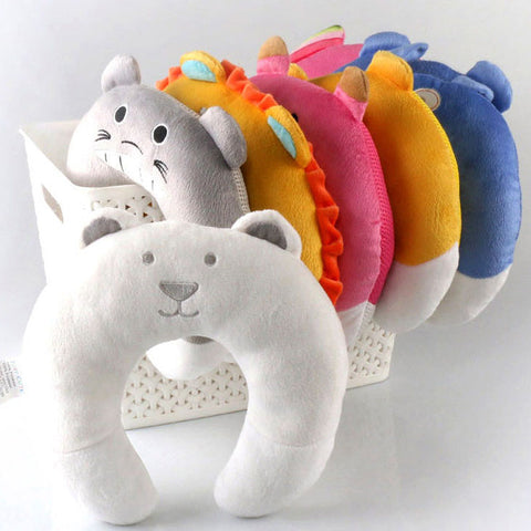 Cute Neck Baby Pillow / Headrest  (0-12 months) - hushabyebaby-co-uk