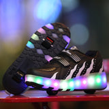 Girl's LED Light Sneaker Outdoor Sports Glowing Shoes - Hushabyebaby.co.uk