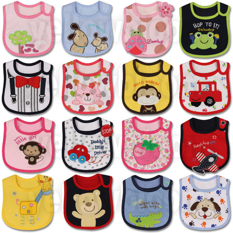 Baby Girl and Boy Feeding Bibs - hushabyebaby-co-uk