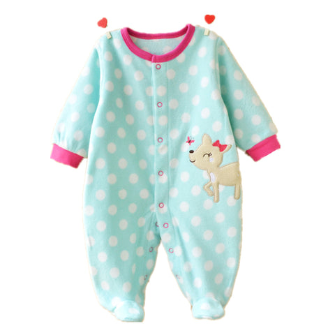 Warm Winter Fleece Baby Girl/Boy Rompers Cartoon Animal Clothing Set (Newborn to 12 months) - Hushabyebaby.co.uk