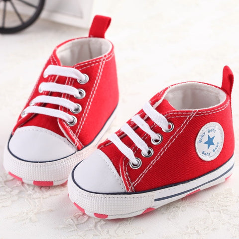 New Canvas Baby Sport Shoes - Hushabyebaby.co.uk