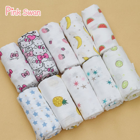 100% Cotton Muslin Blankets / Swaddle Blankets - Hushabyebaby.co.uk