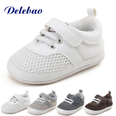 High Quality - Delebao Air Mesh Soft Baby Shoes  for Baby Boys or Grls - Hushabyebaby.co.uk