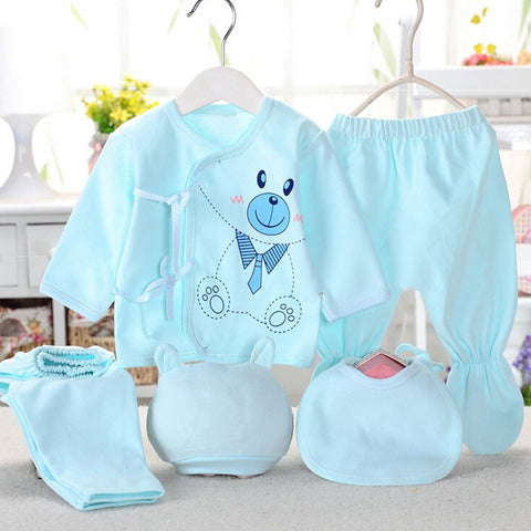 Newborn baby Five Piece underwear set for boys/girls - hushabyebaby-co-uk