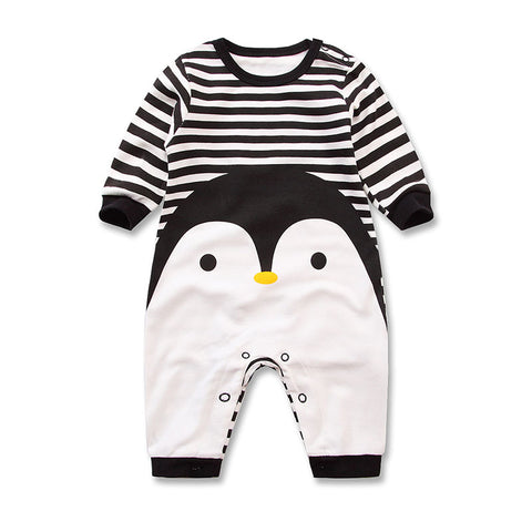 Long Sleeved Cotton Romper Baby Clothes - Various cartoon designs. - Hushabyebaby.co.uk
