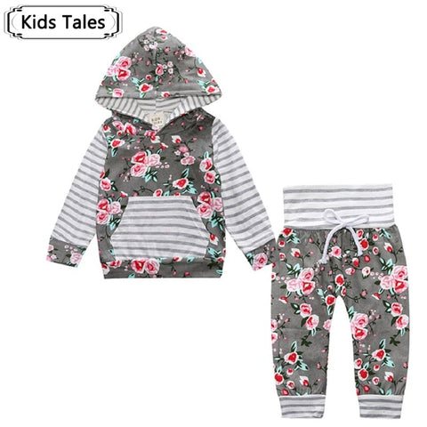 2018 New Autumn Baby Girl / Boy Two Piece Clothing Sets with Hood (6-18 months) - hushabyebaby-co-uk