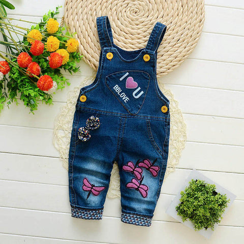 Infant denim overalls for boys/girls  (suitable for 9 months - 3 years) - hushabyebaby-co-uk