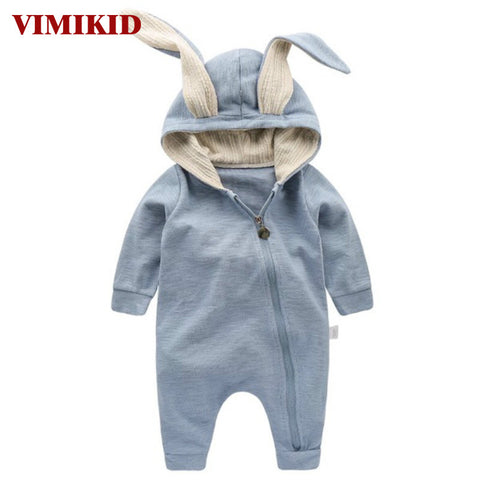 Newborn Baby Girl/Boy Romper with 3D Bunny Rabbit Ears (3-24 months) - Hushabyebaby.co.uk