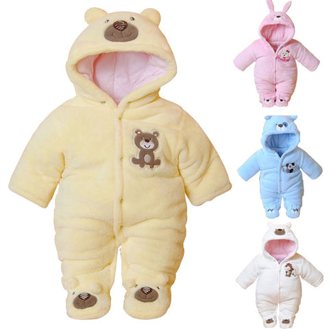 Newborn Baby Winter Rompers for Boys or Girls (3-12 months) - hushabyebaby-co-uk