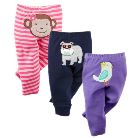 Three Piece Cotton Baby Pants Suitable For Boy/Girl (3-24 months) - hushabyebaby-co-uk