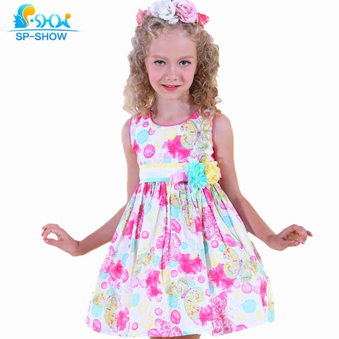 100% Cotton Girl's  Dress - Hushabyebaby.co.uk