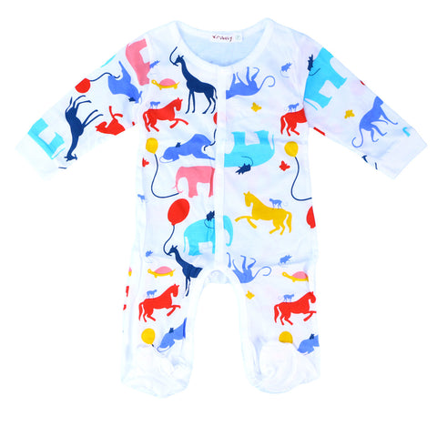 Unisex Baby Infant Romper Footless Coverall Pyjamas Long Sleeve - hushabyebaby-co-uk.myshopify.com