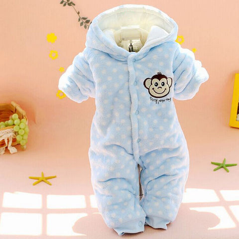 Newborn  Warm Baby Girl/Boy Winter Rompers (3-12 months) - hushabyebaby-co-uk.myshopify.com