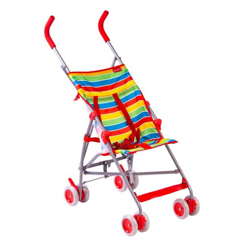 Red Kite Push Me Light Upright Stroller - Summer Stripe - hushabyebaby-co-uk
