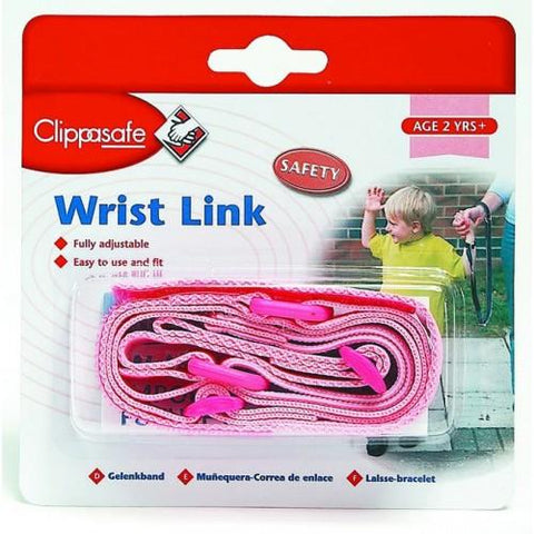 Safety Wrist Link with Shock Absorber - Pink by Clippasafe - Hushabyebaby.co.uk