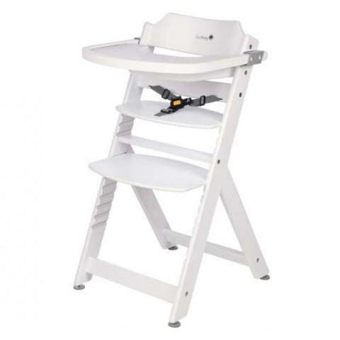 Timba Wooden Highchair - White by Safety 1st - Hushabyebaby.co.uk