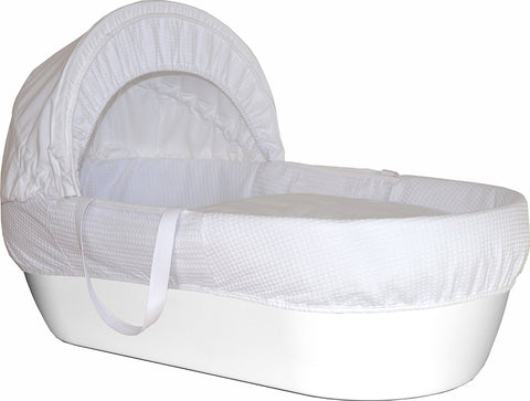 Moses Basket  Pure White - hushabyebaby-co-uk