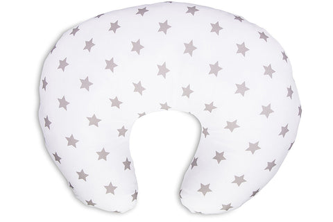 Cuddles Nursing Pillow Silver Stars - Hushabyebaby.co.uk