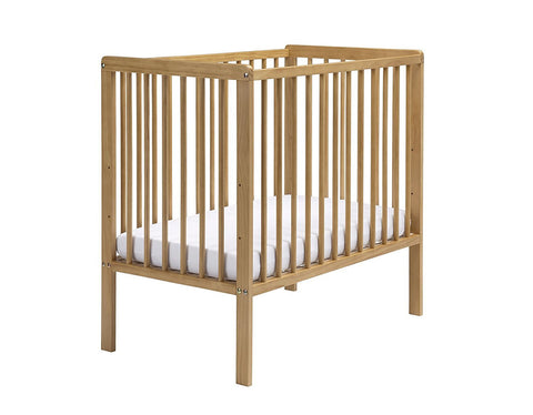East Coast Nursery Carolina Cot Space Saver With Mattress - Antique - Hushabyebaby.co.uk