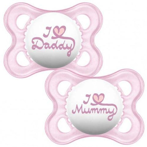 MAM 0+Month Soother STYLE GIRL x 2 pack - Hushabyebaby.co.uk