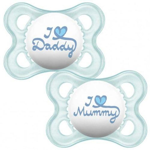 MAM 0+Month Soother STYLE BOY X 2 pack - Hushabyebaby.co.uk