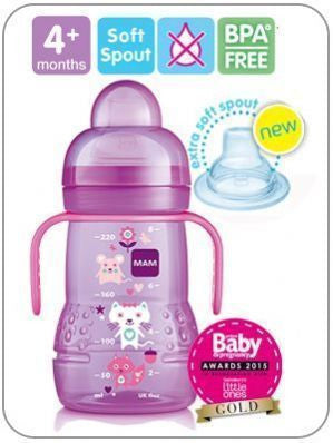MAM Trainer Bottle 220 ml 1 pack GIRL - Hushabyebaby.co.uk